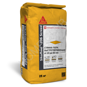 СТЯЖКА для пола Sikafloor®-206 Screed, Мешок 25 кг